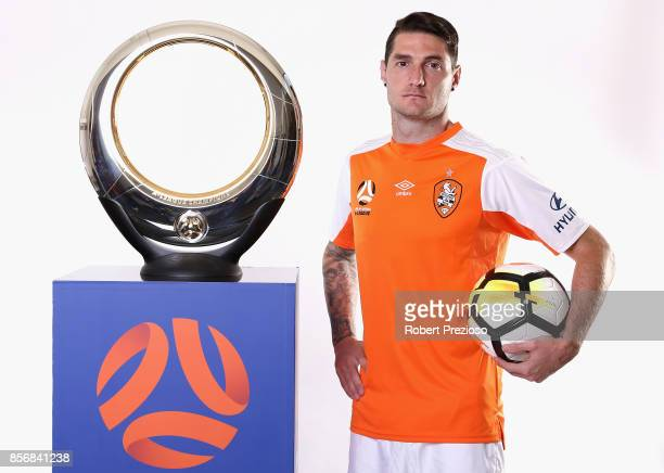 Corey Gameiro of Brisbane Roar poses during the 2017/18 ALeague Season Launch at Port Melbourne SC on October 3 2017 in Melbourne Australia