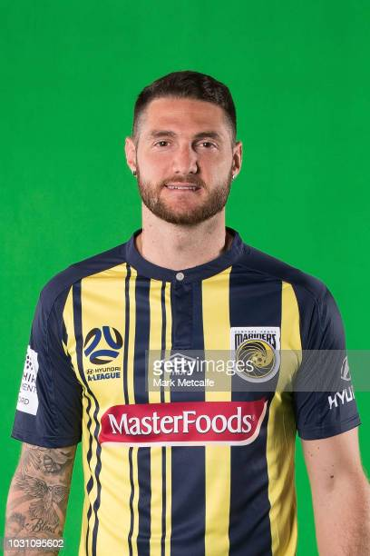Corey Gameiro poses during a Central Coast Mariners 2018/19 ALeague headshots session at Fox Sports Studios on September 11 2018 in Sydney Australia