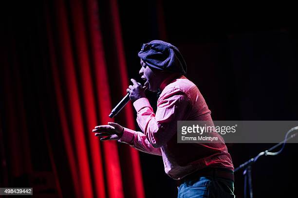 Corey Glover performs live at the premiere of Jaco at The Theater at The Ace Hotel on November 22 2015 in Los Angeles California