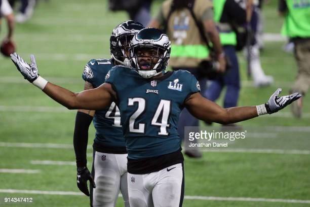 Corey Graham of the Philadelphia Eagles celebrates winning Super Bowl LII against the New England Patriots 4133 at US Bank Stadium on February 4 2018...