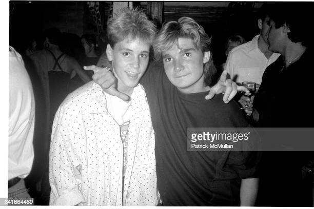 Corey Haim and Corey Feldman at the Tunnel July 29 1987