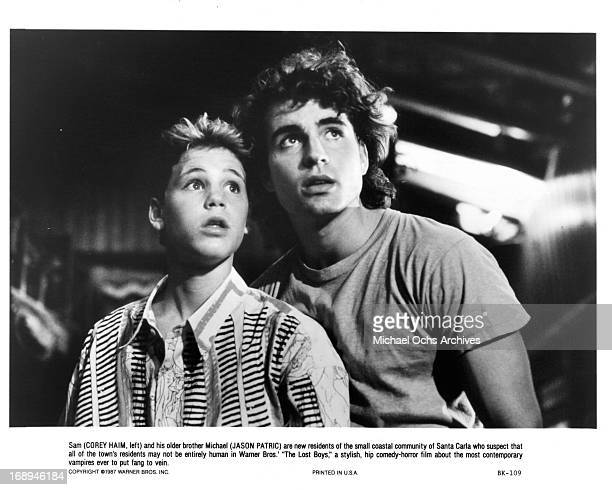 Corey Haim and Jason Patric in a scene from the film 'The Lost Boys' 1987
