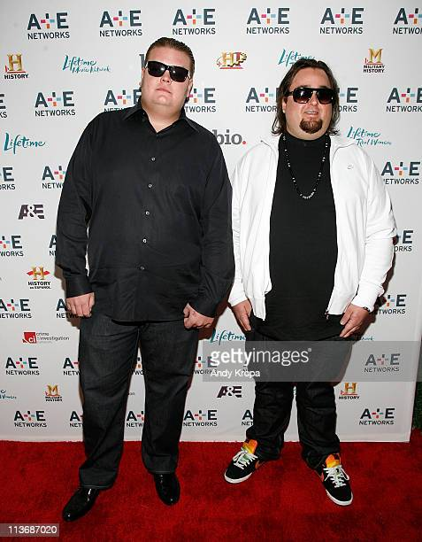 Corey Harrison and Chumlee attends the 2011 AE Television Networks Upfront Presentation at IAC Building on May 4 2011 in New York City