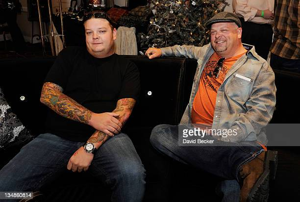 Corey Harrison and father Rick Harrison from History's 'Pawn Stars' television series attends the Backstage Creations Celebrity Retreat at the...