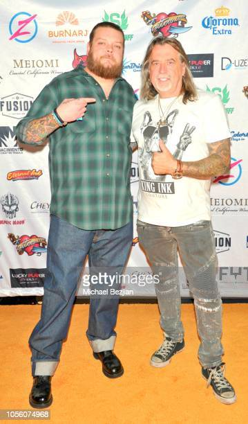 Corey Harrison and Mario Barth attend Tat2ween Opening Party on October 31 2018 in Las Vegas Nevada