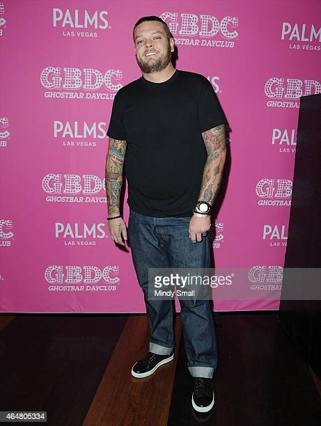 Corey Harrison arrives at Ghostbar Dayclub at the Palms Casino Resort on February 28 2015 in Las Vegas Nevada
