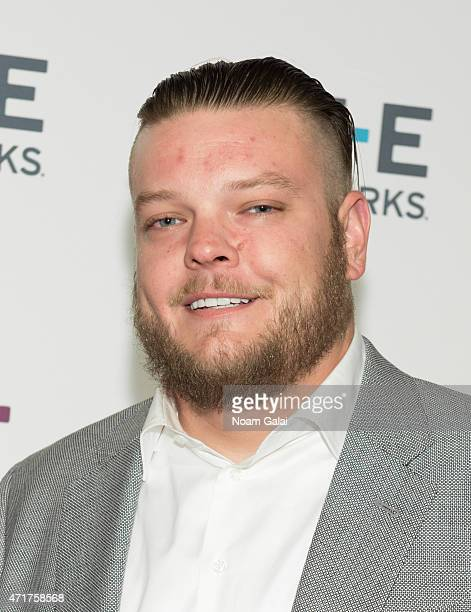 Corey Harrison attend the 2015 AE Network Upfront at Park Avenue Armory on April 30 2015 in New York City