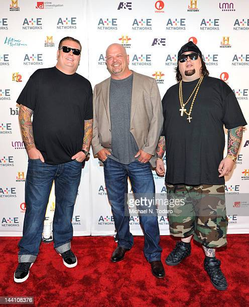 Corey Harrison Rick Harrison and Austin Chumlee Russell attend the AE Networks 2012 Upfront at Lincoln Center on May 9 2012 in New York City