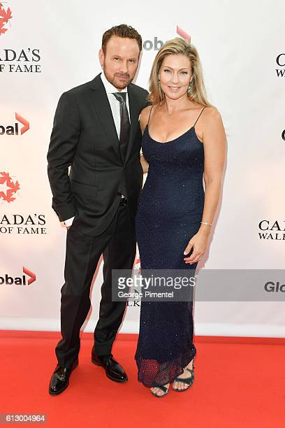 Corey Hart and Julie Hart the 2016 Canada's Walk Of Fame Awards at Allstream Centre on October 6 2016 in Toronto Canada