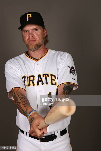 Corey Hart of the Pittsburgh Pirates poses for a portrait on photo day on February 26 2015 at Pirate City in Bradenton Florida