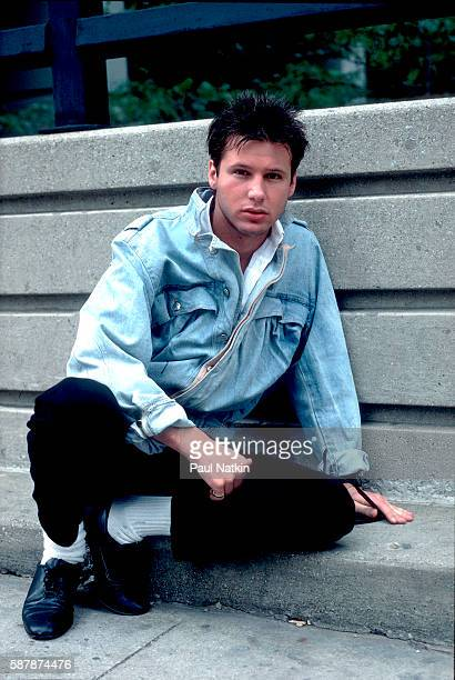 Corey Hart on the street in Chicago Illinois June 12 1984
