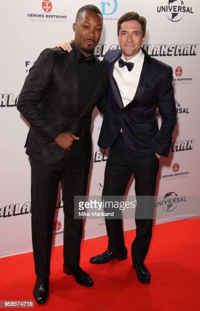 Corey Hawkin and Topher Grace attend the BlacKkKlansman After Party during the 71st annual Cannes Film Festival at on May 14 2018 in Cannes France