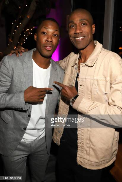 Corey Hawkins and Al Shearer attend Common's 5th Annual Toast to the Arts at Ysabel on February 22 2019 in West Hollywood California