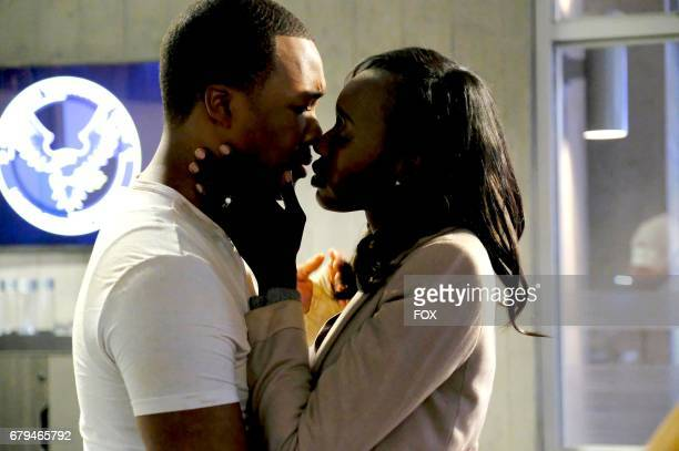 Corey Hawkins and Anna Diop in the '1100 PM1200 AM' season finale episode of 24 LEGACY airing Monday April 17 on FOX