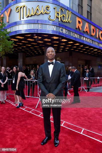 Corey Hawkins attends the 2017 Tony Awards at Radio City Music Hall on June 11 2017 in New York City
