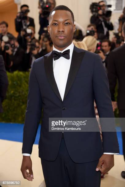 Corey Hawkins attends the Rei Kawakubo/Comme des Garcons Art Of The InBetween Costume Institute Gala at Metropolitan Museum of Art on May 1 2017 in...