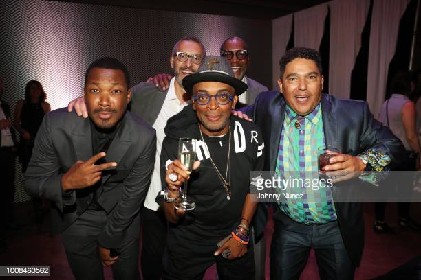 Corey Hawkins John Turturro Spike Lee Larry Cherry and Nick Turturro attend the 'BlacKkKlansman' New York Premiere at Brooklyn Academy of Music on...