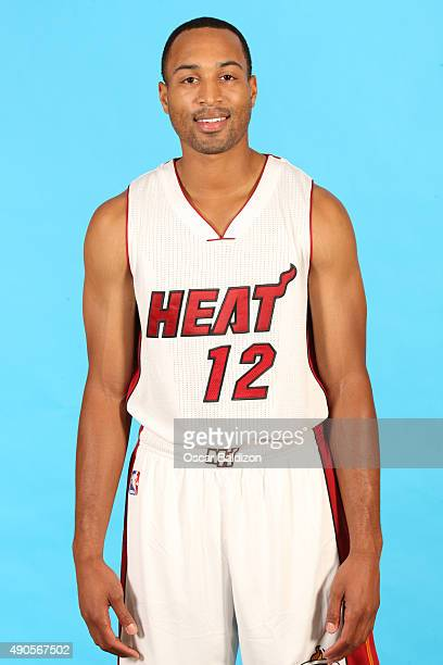 Corey Hawkins of the Miami Heat poses for a portrait during the 2015 Media Day on September 28 2015 at the American Airlines Arena in Miami Florida...