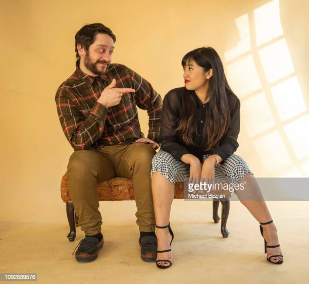Corey Huber and Nina Gosiengfiao pose for portrait at Giveback Day at TAP The Artists Project on January 10 2019 in Los Angeles California