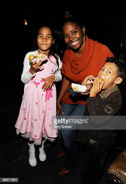 Corey Jackson Shar Jackson and Caleb Jackson attend the afterparty for Dr Seuss' How the Grinch Stole Christmas The Musical at HWood on November 14...