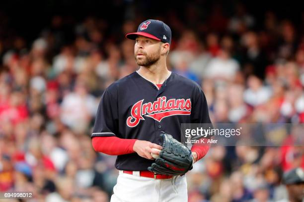 Corey Kluber of the Cleveland Indians in action against the Chicago White Sox at Progressive Field on June 9 2017 in Cleveland Ohio