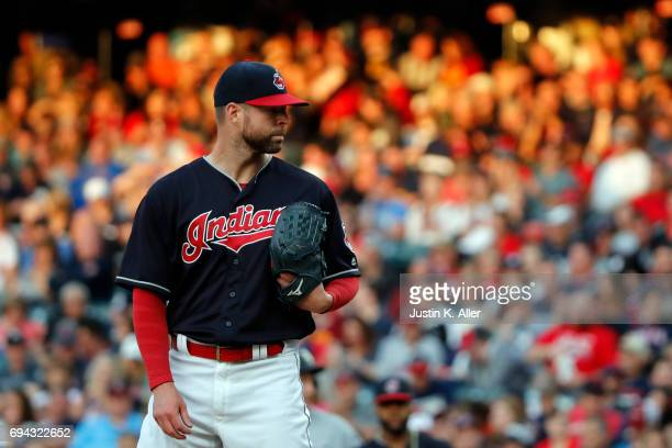 Corey Kluber of the Cleveland Indians pitches against the Chicago White Sox at Progressive Field on June 9 2017 in Cleveland Ohio