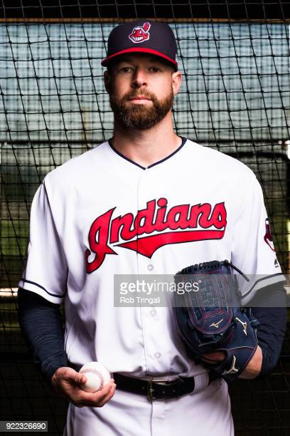 Corey Kluber of the Cleveland Indians poses for a portrait at the Cleveland Indians Player Development Complex on February 21 2018 in Goodyear Arizona