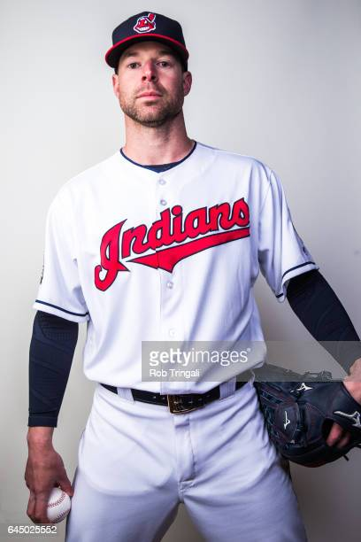 Corey Kluber of the Cleveland Indians poses for a portrait during Indians Photo Day at the Goodyear Sports Complex on February 24 2017 in Goodyear...