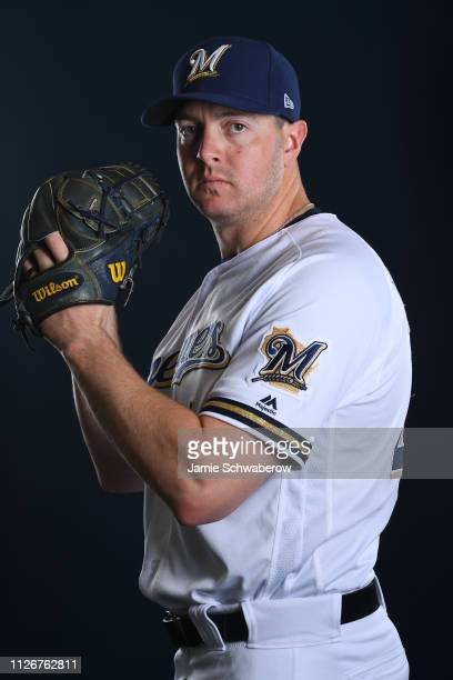 Corey Knebel of the Milwaukee Brewers poses during the Brewers Photo Day on February 22 2019 in Maryvale Arizona