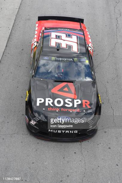 Corey LaJoie Archie St Hilaire Ford Mustang during practice for the Monster Energy NASCAR Cup Series Pennzoil 400 on March 2 at Las Vegas Motor...