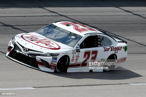 Corey LaJoie driver of the Dr Pepper Toyota practices for the Monster Energy NASCAR Cup Series Bojangles' Southern 500 at Darlington Raceway on...