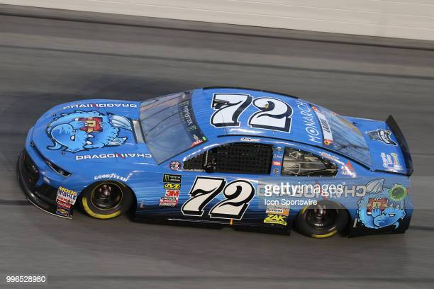 Corey Lajoie driver of the Dragonchain Chevy during the Coke Zero 400 Monster Energy Cup Series race on July 7 at Daytona International Speedway in...