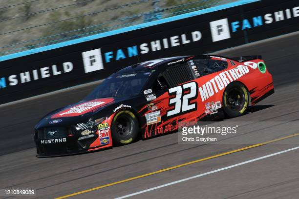 Corey LaJoie driver of the Motor Trend Ford practices during practice for the NASCAR Cup Series FanShield 500 at Phoenix Raceway on March 06 2020 in...