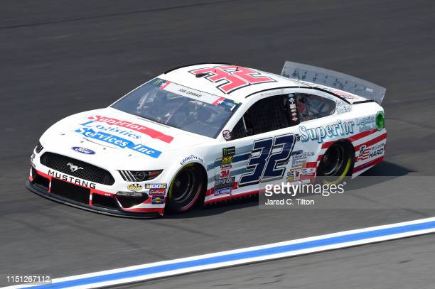 Corey LaJoie driver of the Superior Logistics Ford practices for the Monster Energy NASCAR Cup Series CocaCola 600 at Charlotte Motor Speedway on May...