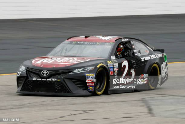 Corey LaJoie Monster Energy NASCAR Cup Series driver of the Dr Pepper Toyota during qualifying for the Overton's 301 on July 14 at New Hampshire...