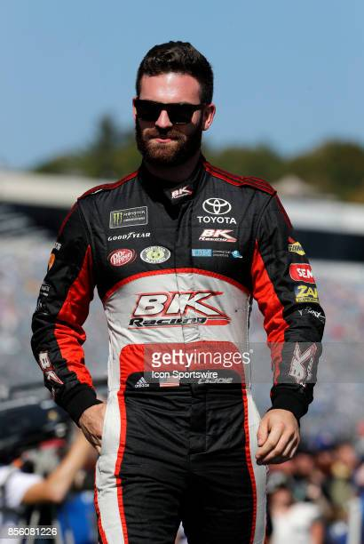 Corey LaJoie Monster Energy NASCAR Cup Series driver of the Schroth Racing Toyota during introductions for the Monster Energy Cup Series ISM Connect...