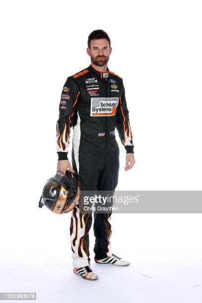 Corey LaJoie poses for a photo during NASCAR Production Days at Charlotte Convention Center on January 29 2020 in Charlotte North Carolina