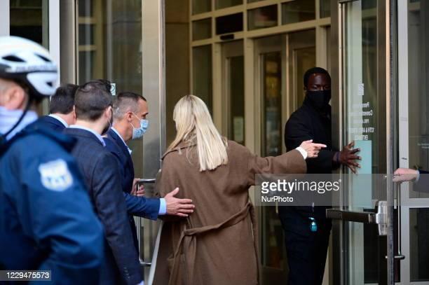 Corey Lewandowski and Pam Bondi, representing the Trump campaign attempt to acces the ballot count facilities at the a Pennsylvania Convention Center...