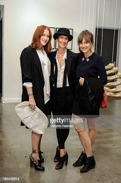 Corey Lynn Calter Anna Getty and Stephanie Garcia attend The Mistake Room's Benefit Auction on October 13 2013 in Los Angeles California