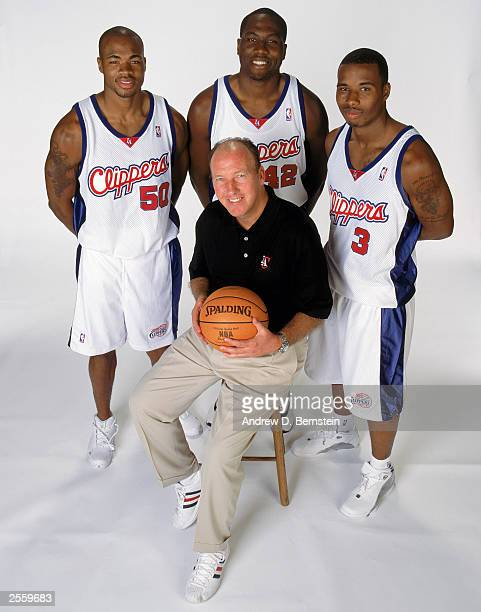 Corey Maggette Elton Brand Quentin Richardson and head coach Mike Dunleavy of the Los Angeles Clippers pose for a group portrait during NBA Clippers...