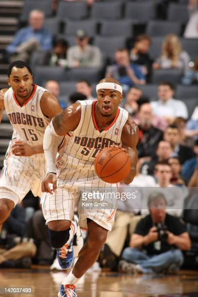 Corey Maggette of the Charlotte Bobcats drives against the Minnesota Timberwolves at the Time Warner Cable Arena on March 28 2012 in Charlotte North...
