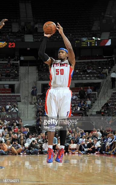 Corey Maggette of the Detroit Pistons goes for a jump shot during the game between the Detroit Pistons and the Golden State Warriors on December 5...