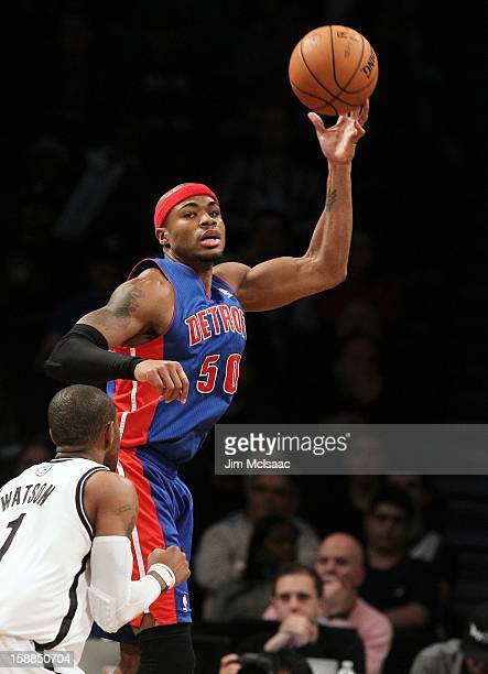 Corey Maggette of the Detroit Pistons in action against the Brooklyn Nets at Barclays Center on December 14 2012 in the Brooklyn borough of New York...