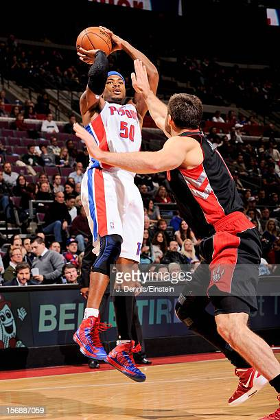 Corey Maggette of the Detroit Pistons shoots against the Toronto Raptors on November 23 2012 at The Palace of Auburn Hills in Auburn Hills Michigan...