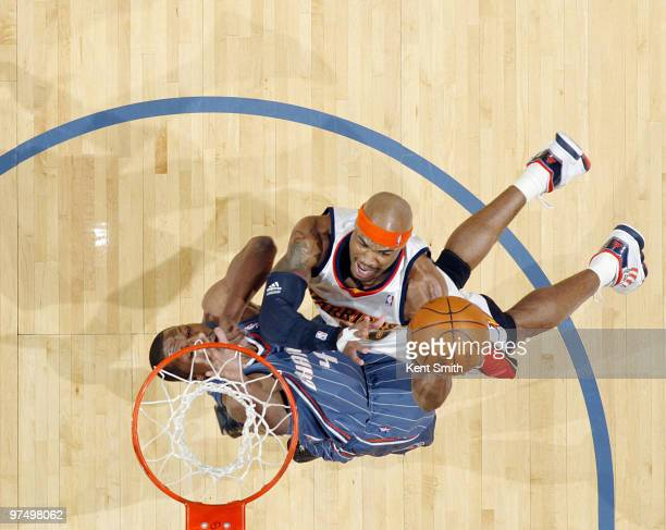 Corey Maggette of the Golden State Warriors dunks against the Charlotte Bobcats on March 6 2010 at the Time Warner Cable Arena in Charlotte North...