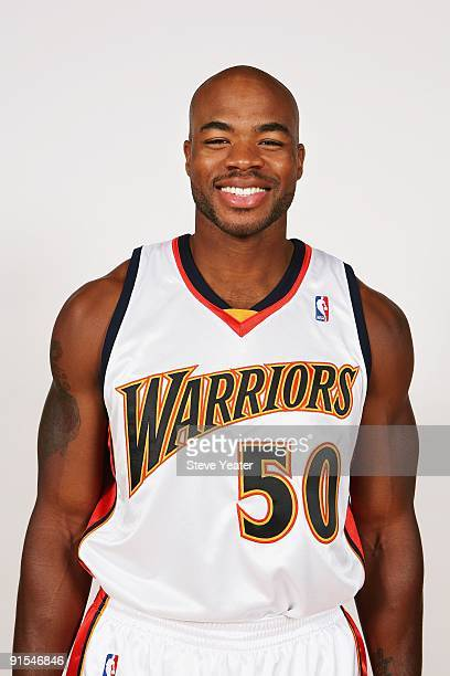 Corey Maggette of the Golden State Warriors poses for a portrait during 2009 NBA Media Day on September 28 2009 at Oracle Arena in Oakland California...