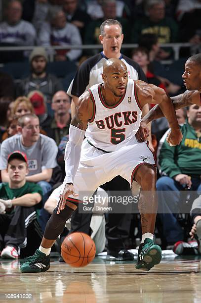 Corey Maggette of the Milwakee Bucks moves the ball against the Toronto Raptors on February 8 2011 at the Bradley Center in Milwaukee Wisconsin NOTE...