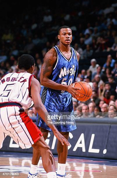 Corey Maggette of the Orlando Magic during the game against the Houston Rockets on November 8 1999 at Compaq Center in Houston Texas