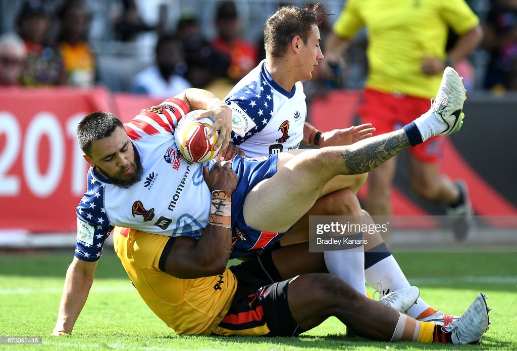 PNG v USA - 2017 Rugby League World Cup : News Photo