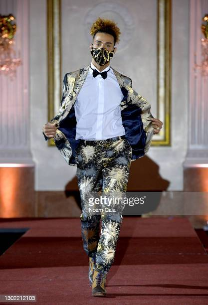 Corey Mays walks the runway for the NYFW hiTechMODA Spotlight on the New Era of Fashion - FIGOS Shoe Designer With Fashion Designer Ricardo Oyarzun:...